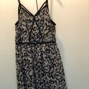 Black and white flower dress